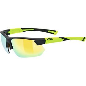 UVEX Sportstyle 221 Sportglasses black mat yellow